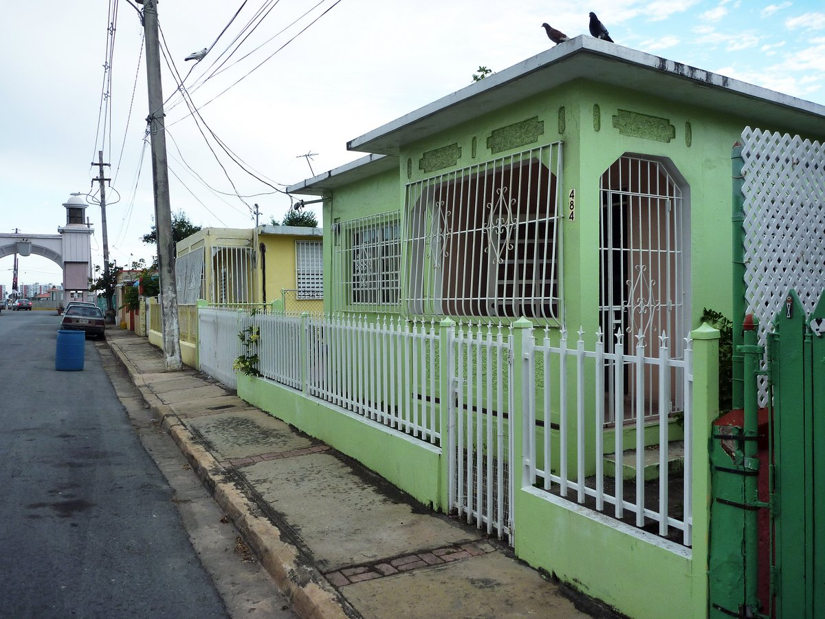 Heavily guarded houses in Fajardo, Puerto Rico
