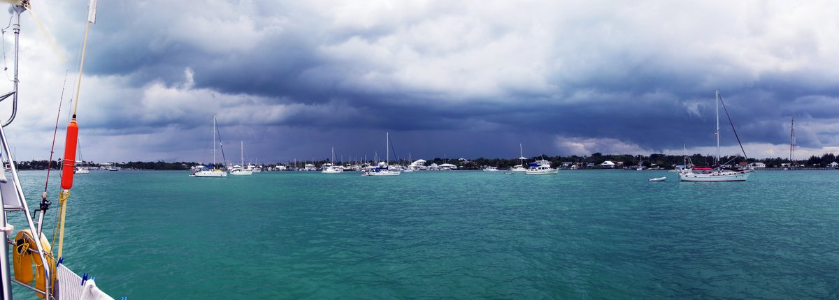 Another squall approaches, Marsh Harbour, Abacos