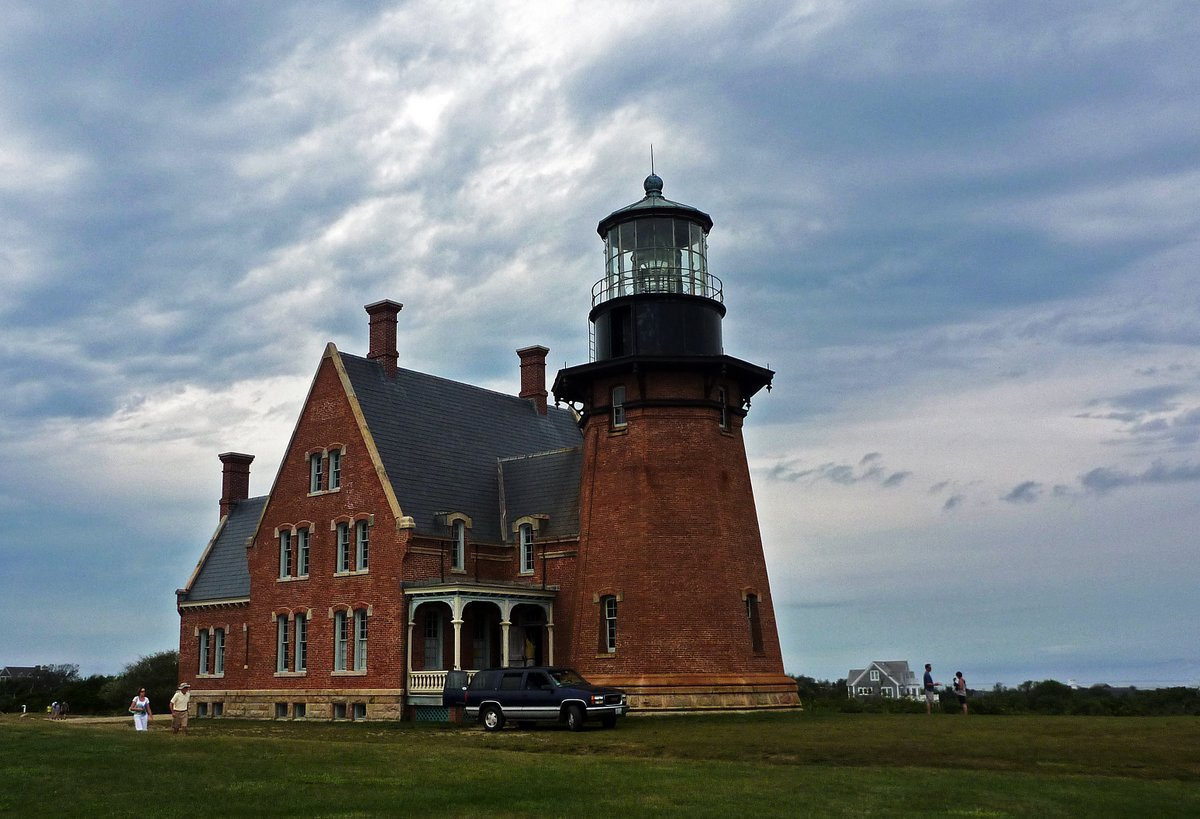 Lighthouse which was moved from the cliff edge, Block Island, Connecticut