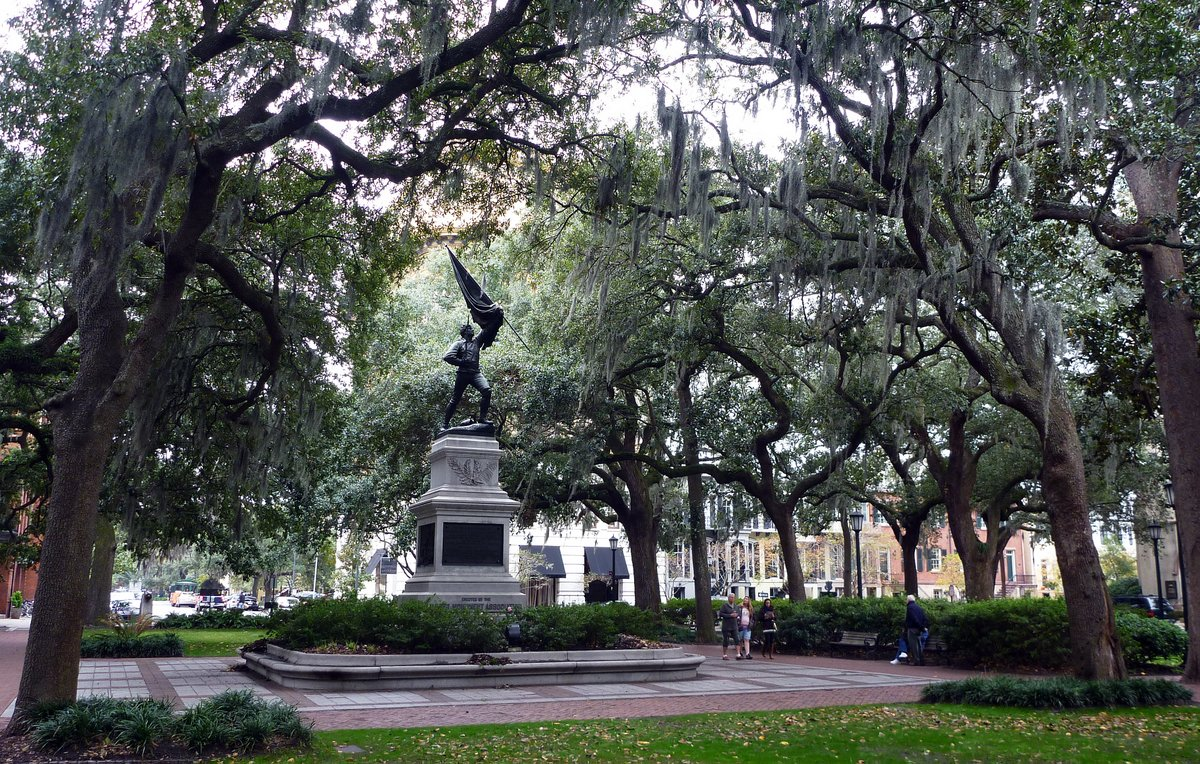 One of the 22 Squares in Savannah, Georgia