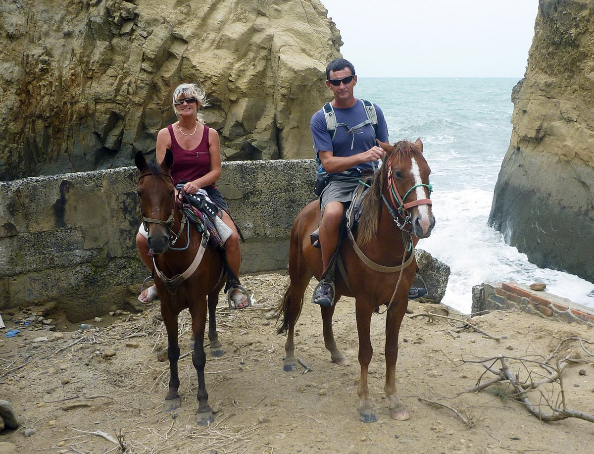 Horse Riding in Canoa, Ecuador