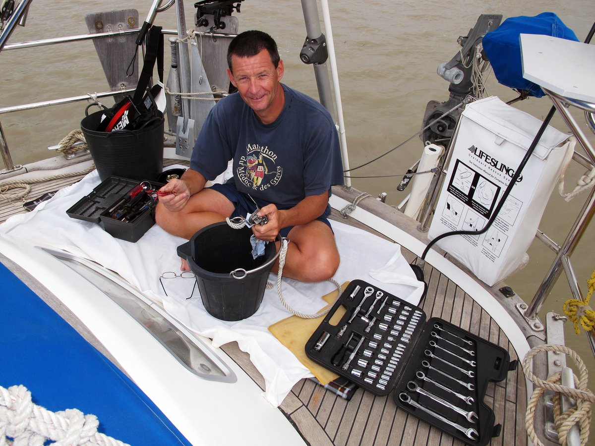 Servicing the outboard