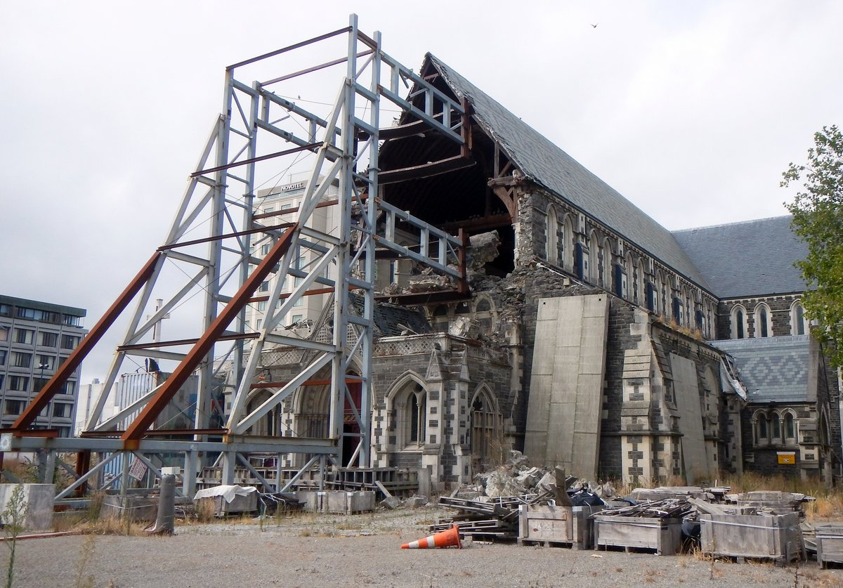 Earthquake damage on Christchurch Catherdral