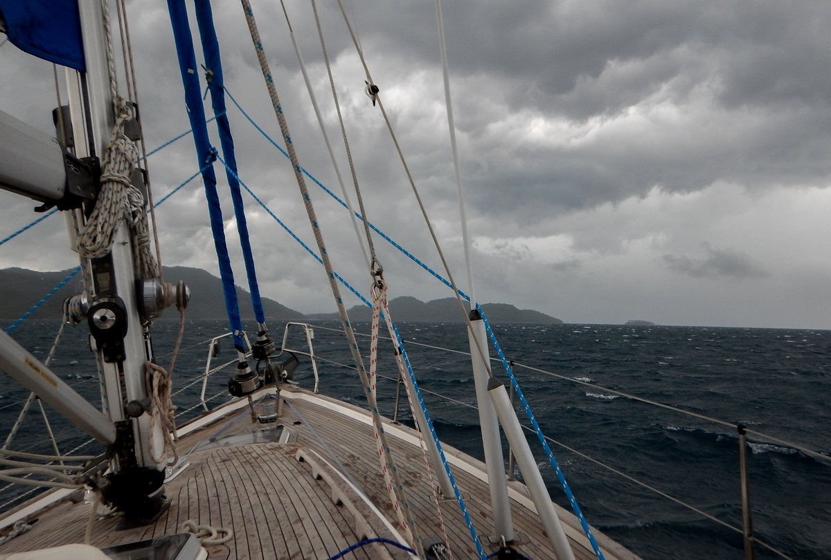 Bashing into a 40 knot squall