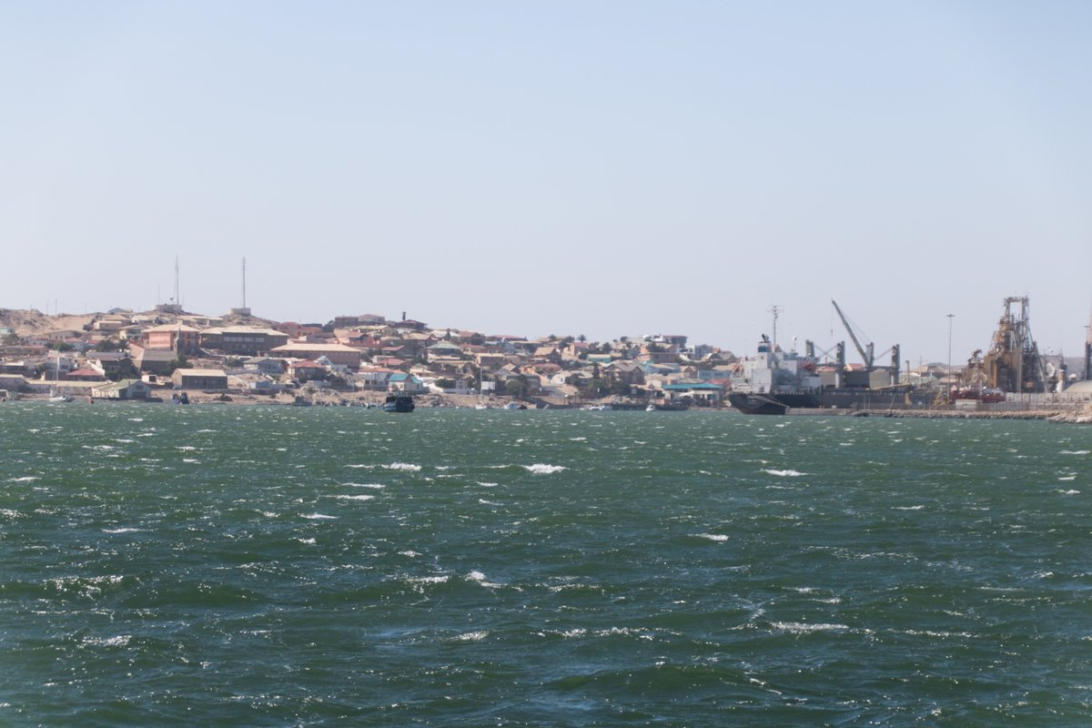 Entering a windy Luderitz