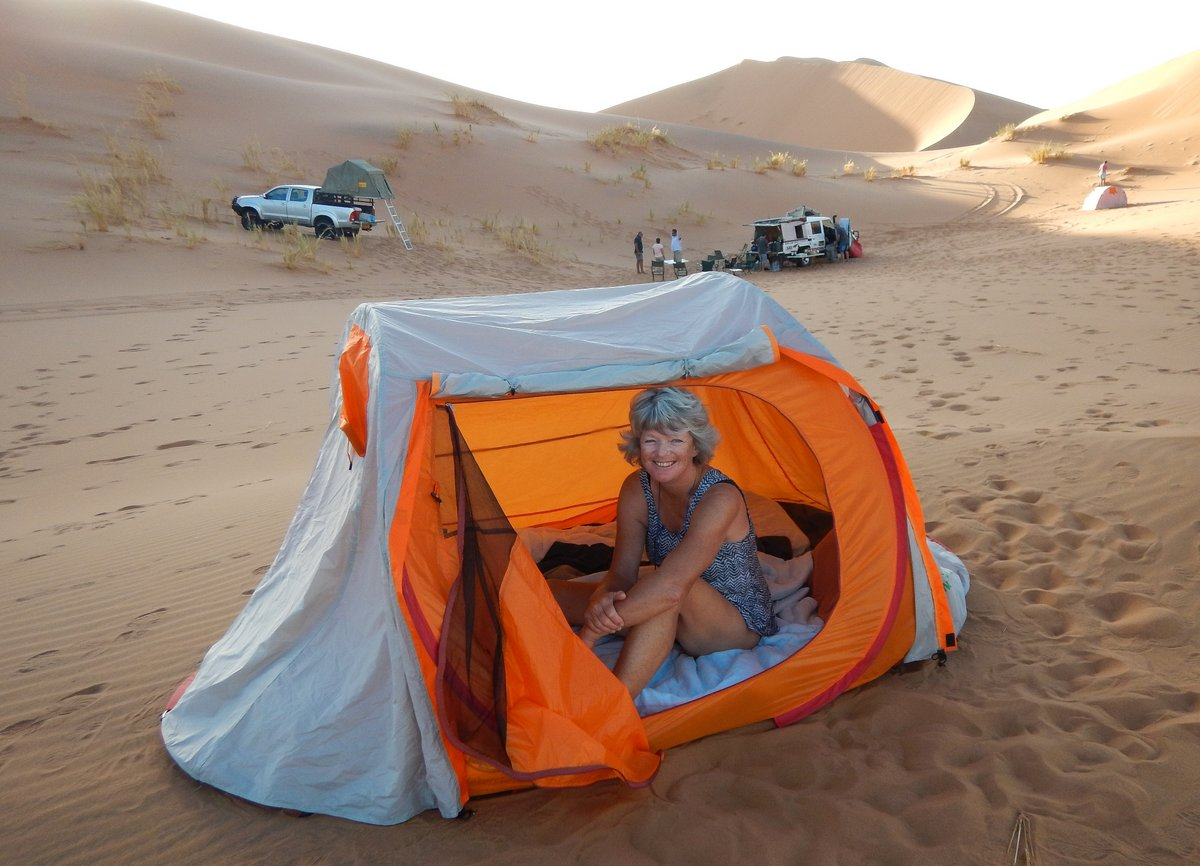 Camping in the Namibian Desert