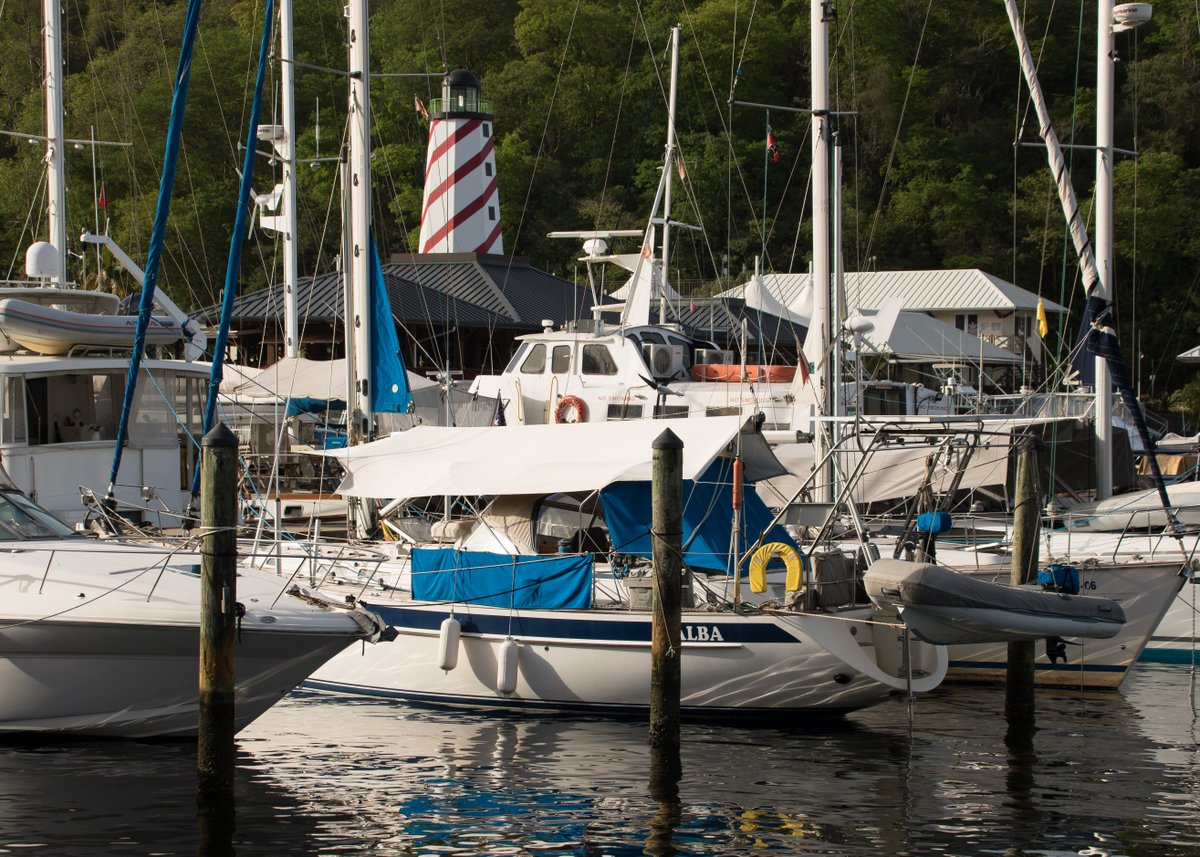 Docked at Coral Cove Marina