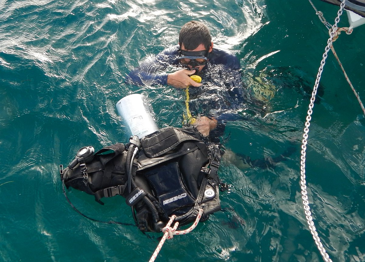 Checking Dive Gear