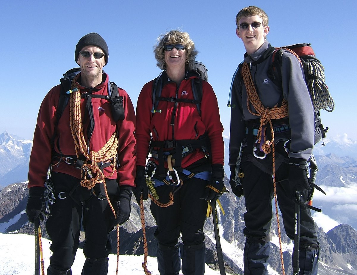 On the Summit of the Weissmies (4012m)