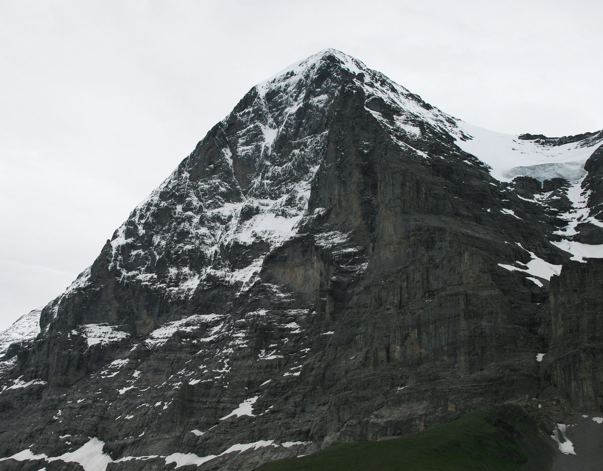 The Classic view of the North face of the Eiger from Kleine Scheidegg